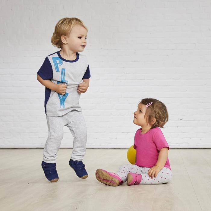 Zapatillas gimnasia I LEARN GRIS VERDE ANÍS