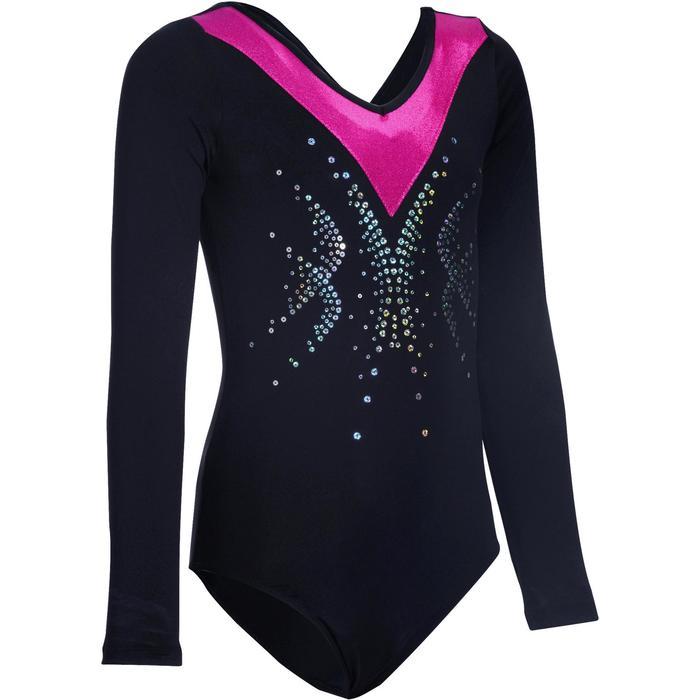Justaucorps manches longues Gymnastique Féminine sequins - 1102792