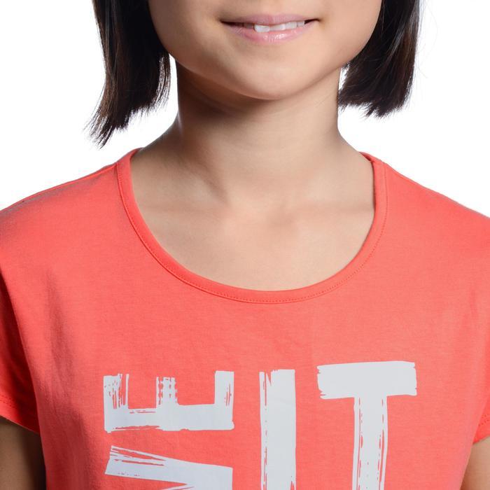 T-Shirt manches courtes 100 Gym fille imprimé - 1102801