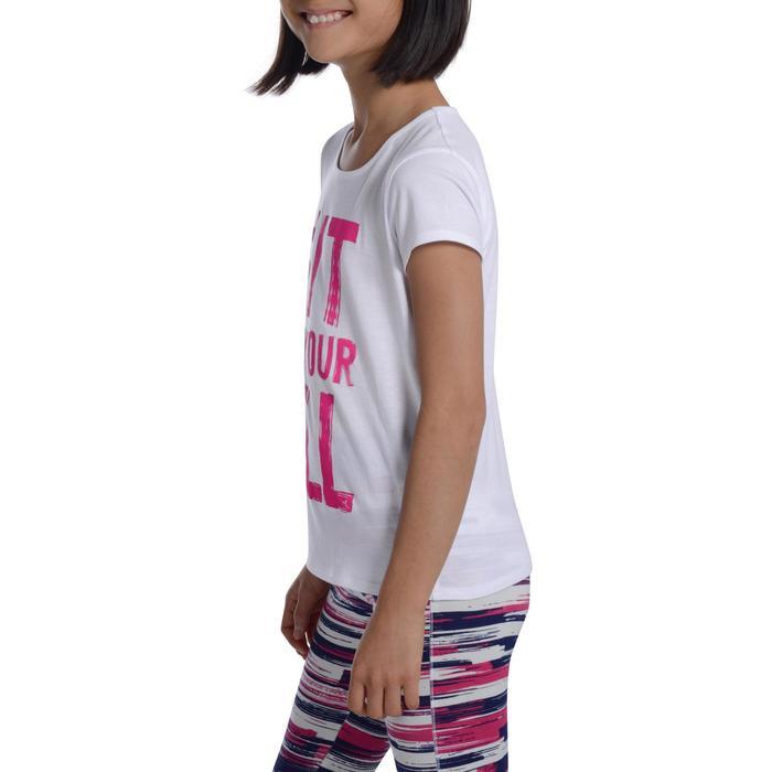 T-Shirt manches courtes 100 Gym fille imprimé - 1102810