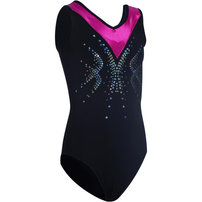 Justaucorps sans manches gym fille (GAF et GR) sequins - 1102817