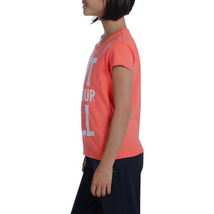 T-Shirt manches courtes 100 Gym fille imprimé - 1102884