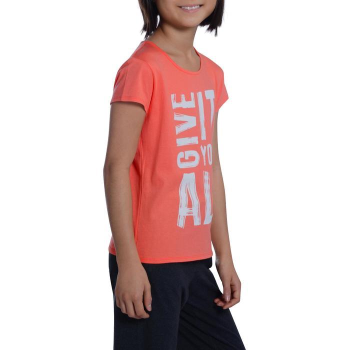T-Shirt manches courtes 100 Gym fille imprimé - 1102898