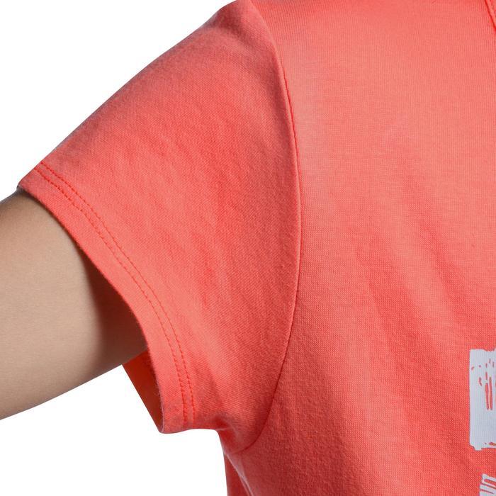 Camiseta de manga corta estampada gimnasia niña rosa