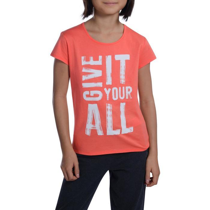 T-Shirt manches courtes 100 Gym fille imprimé - 1102922