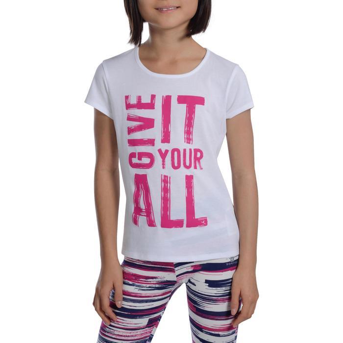 T-Shirt manches courtes 100 Gym fille imprimé - 1102942