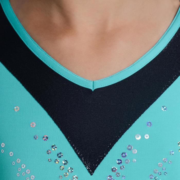Justaucorps manches longues Gymnastique Féminine sequins - 1102958