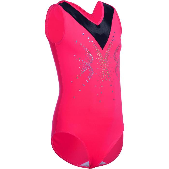 Justaucorps sans manches gym fille (GAF et GR) sequins - 1102983