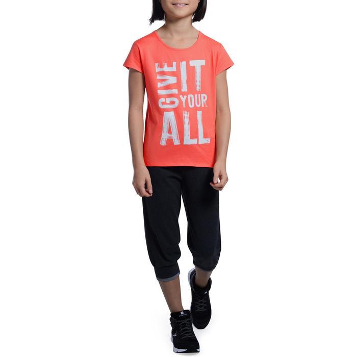 T-Shirt manches courtes 100 Gym fille imprimé - 1102995