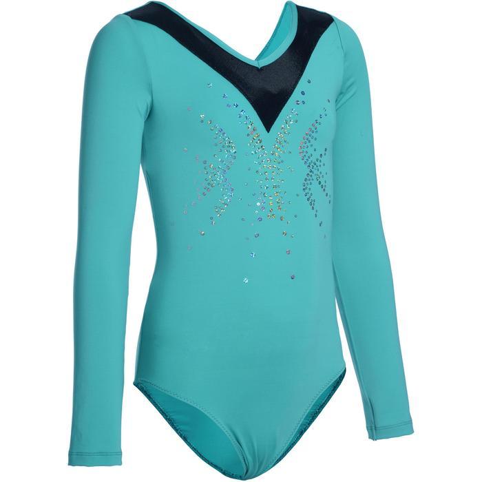 Justaucorps manches longues Gymnastique Féminine sequins - 1103002
