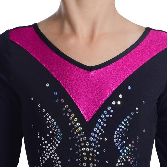 Justaucorps manches longues Gymnastique Féminine sequins - 1103033