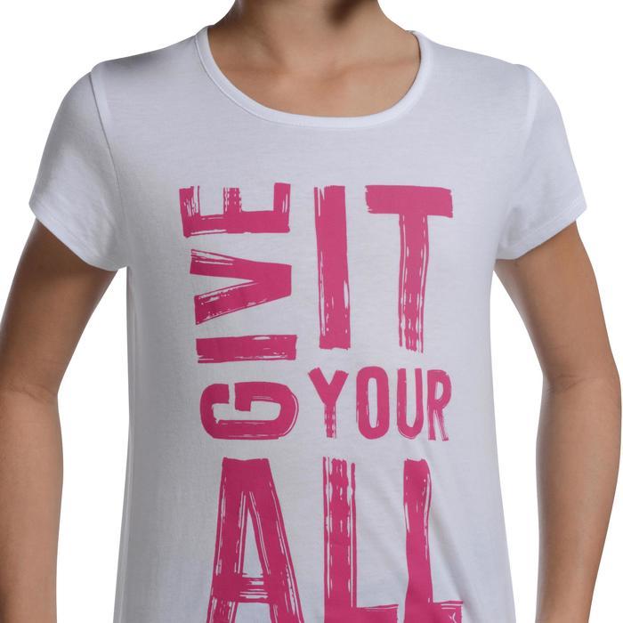 T-Shirt manches courtes 100 Gym fille imprimé - 1103083