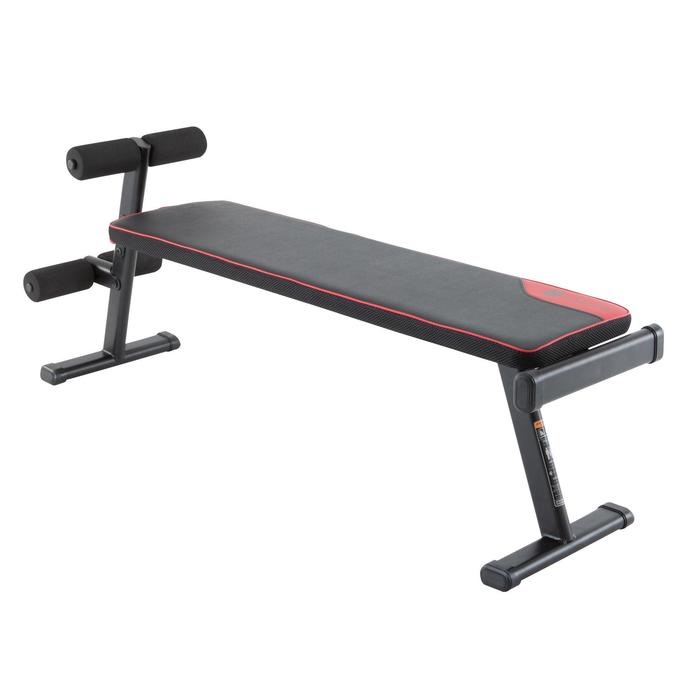 Be Weathly Stay Heathly Ba 100 Fold Down Weight Bench Decathlon