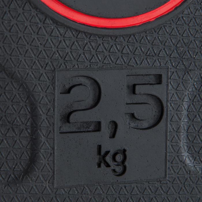 Disco de caucho de musculación Domyos 28 mm 2,5 kg