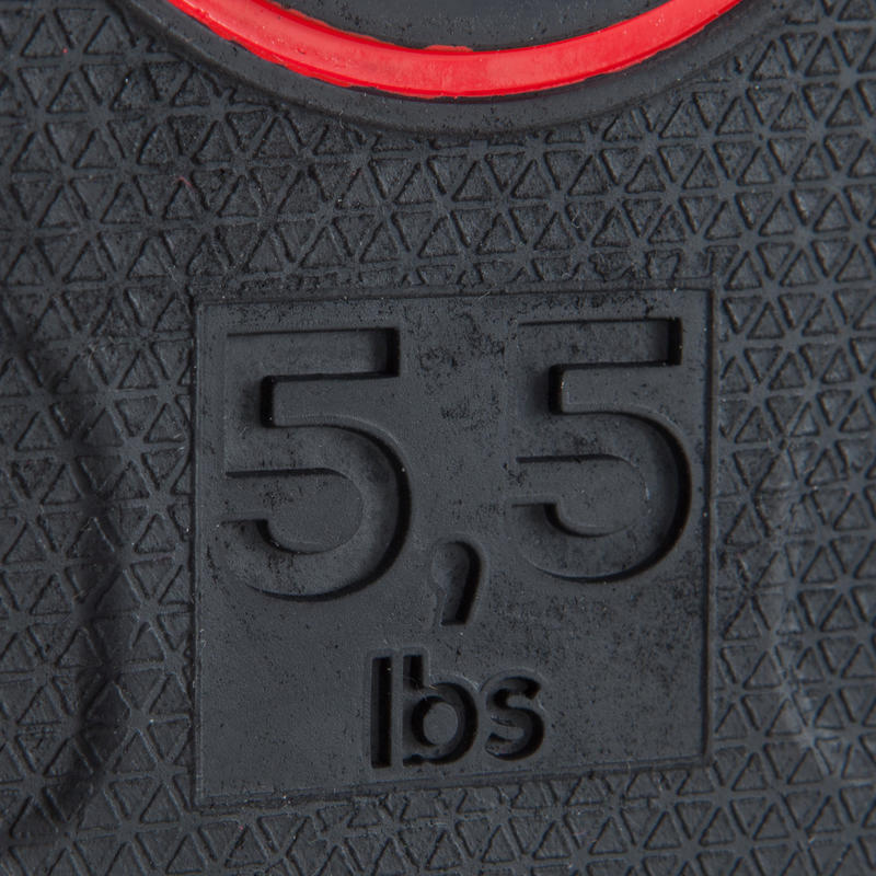 Rubber Weight Disc 28 mm 2.5 kg