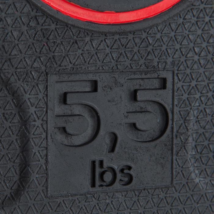 Halterschijf 28 mm rubber 2,5 kg