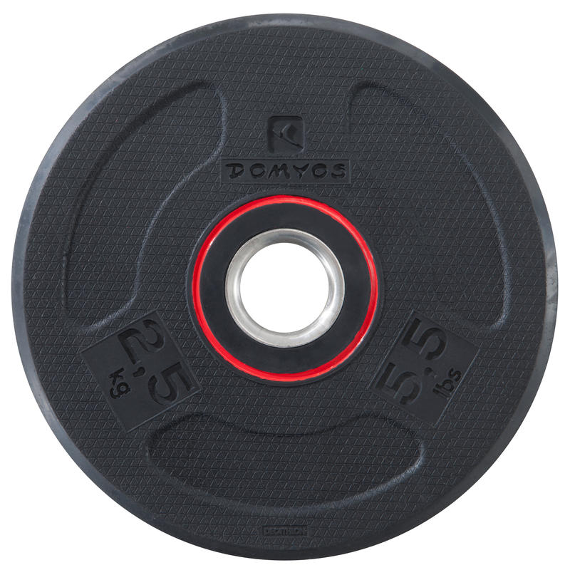 Rubber-coated Weight Training Disc Weight 28 mm 2.5 kg