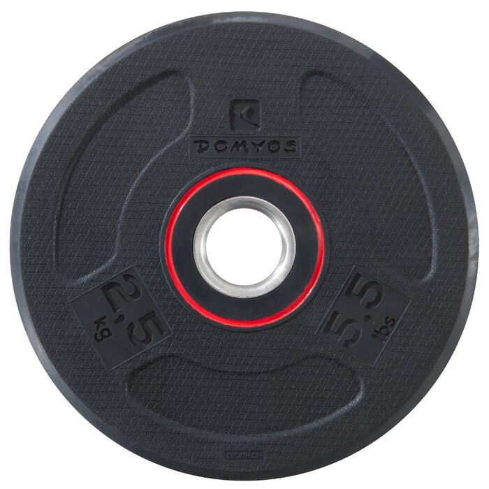 Disque musculation 28 mm caoutchouc 2.5 kg - 1103499