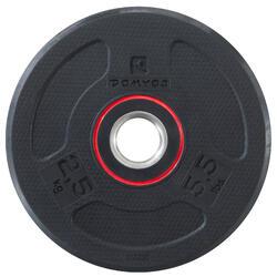 Hantelscheibe gummiert 28mm 2,5kg