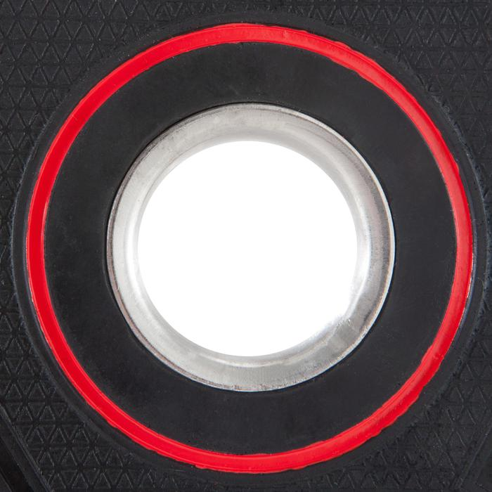 Rubberen halterschijf 28 mm 2,5 kg