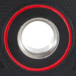 Disco de caucho de musculación con asas Domyos de 28 mm de 5 kg