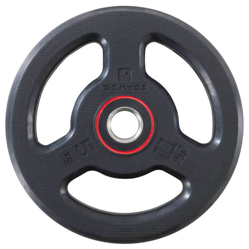 Rubber-coated Weight Training Disc Weight 28 mm 5kg