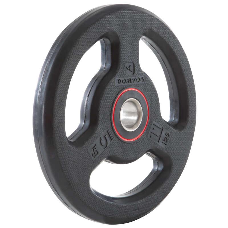 AĞIRLIKLAR, BENCH SEHPALARI VE BARLAR Fitness - Kauçuk disk - 5 kg DOMYOS - Vücut Geliştirme Aletleri