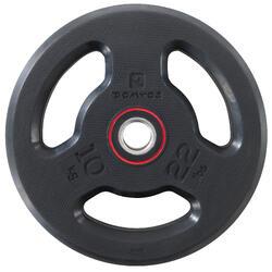 Halterschijf met handgrepen 28 mm rubber 10 kg