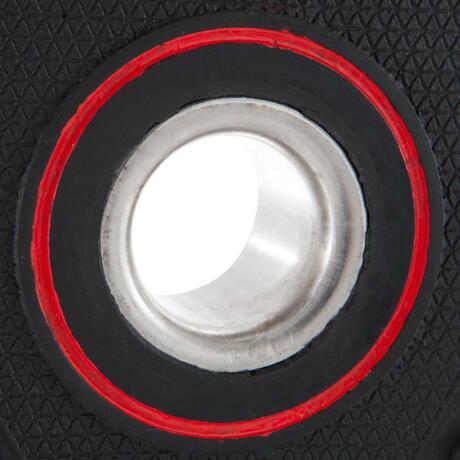 disque musculation avec poign es 28 mm caoutchouc 10 kg. Black Bedroom Furniture Sets. Home Design Ideas