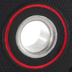 Disco de caucho de musculación con asas Domyos de 28 mm de 10 kg