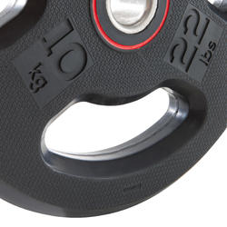 橡膠槓片(附握把)28 mm 10 kg