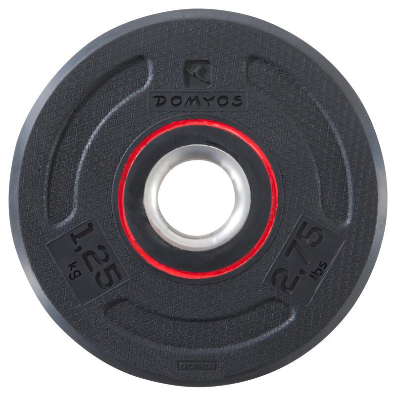 Disque musculation 28 mm caoutchouc 1.25 kg