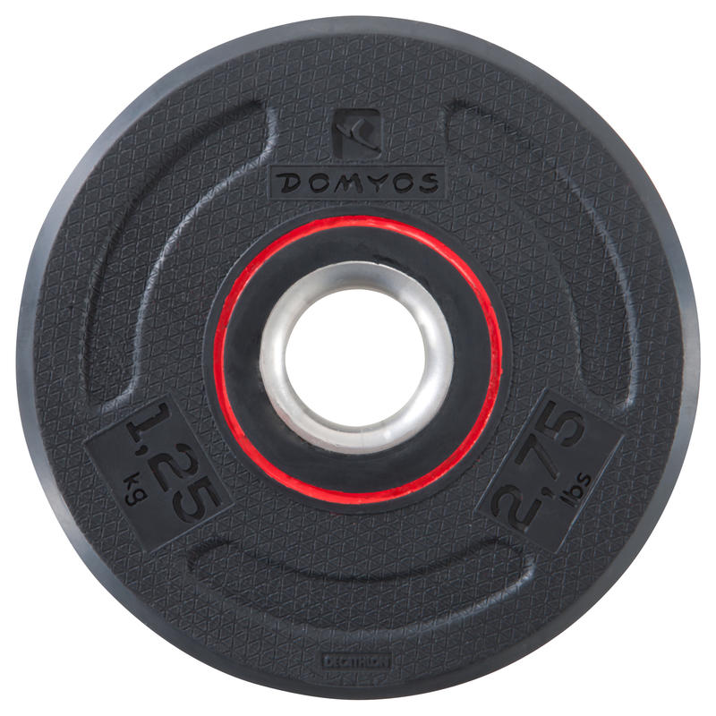 Rubber Weight Training Disc Weight 28 mm - 1.25 kg