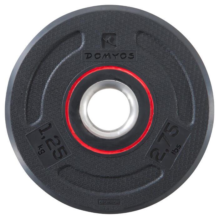 Halterschijf 28 mm met rubber 1,25 kg
