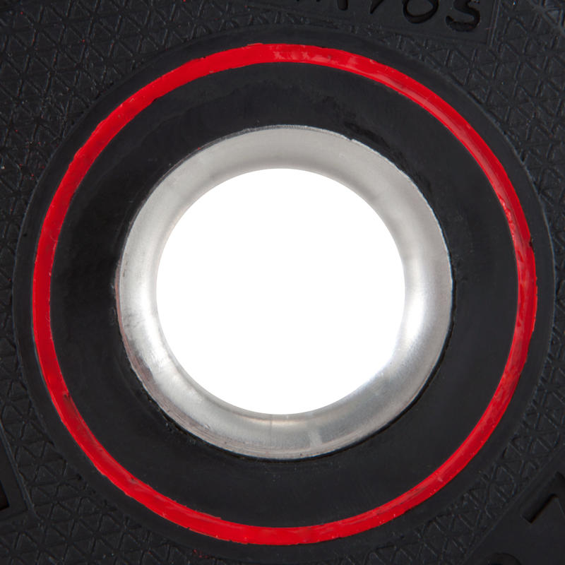 Rubber-coated Weight Training Disc Weight 28 mm 1.25 kg