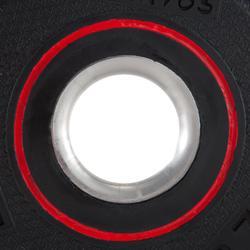 Disco de caucho de musculación Domyos de 28 mm y 1,25 kg