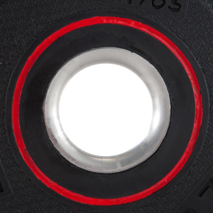 Halterschijf 28 mm rubber 1,25 kg