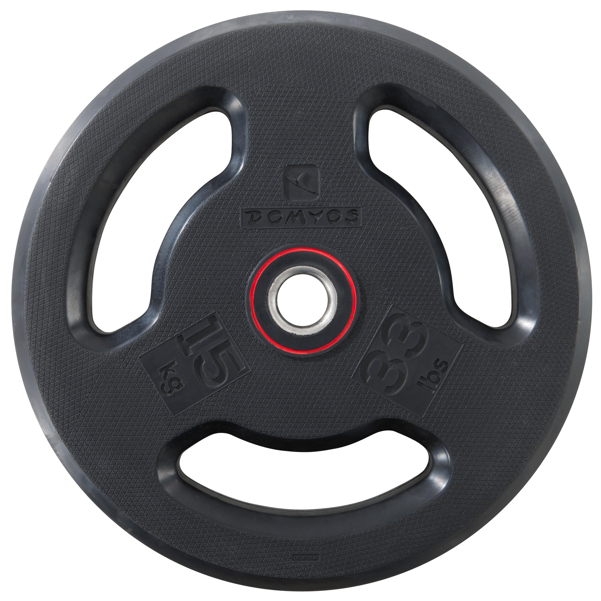 Rubber Weight Disc with Handles 28mm 15kg