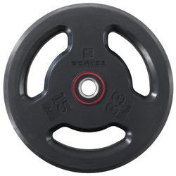 橡膠槓片(附握把)28 mm 15 kg