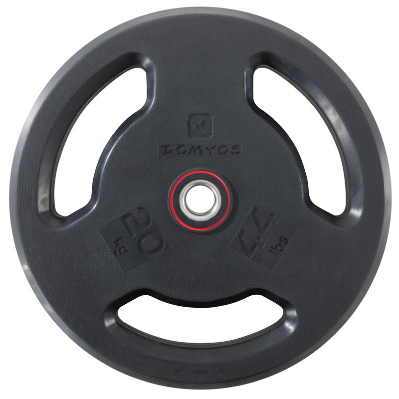 Rubber-coated Weight Training Disc Weight 28 mm 20 kg
