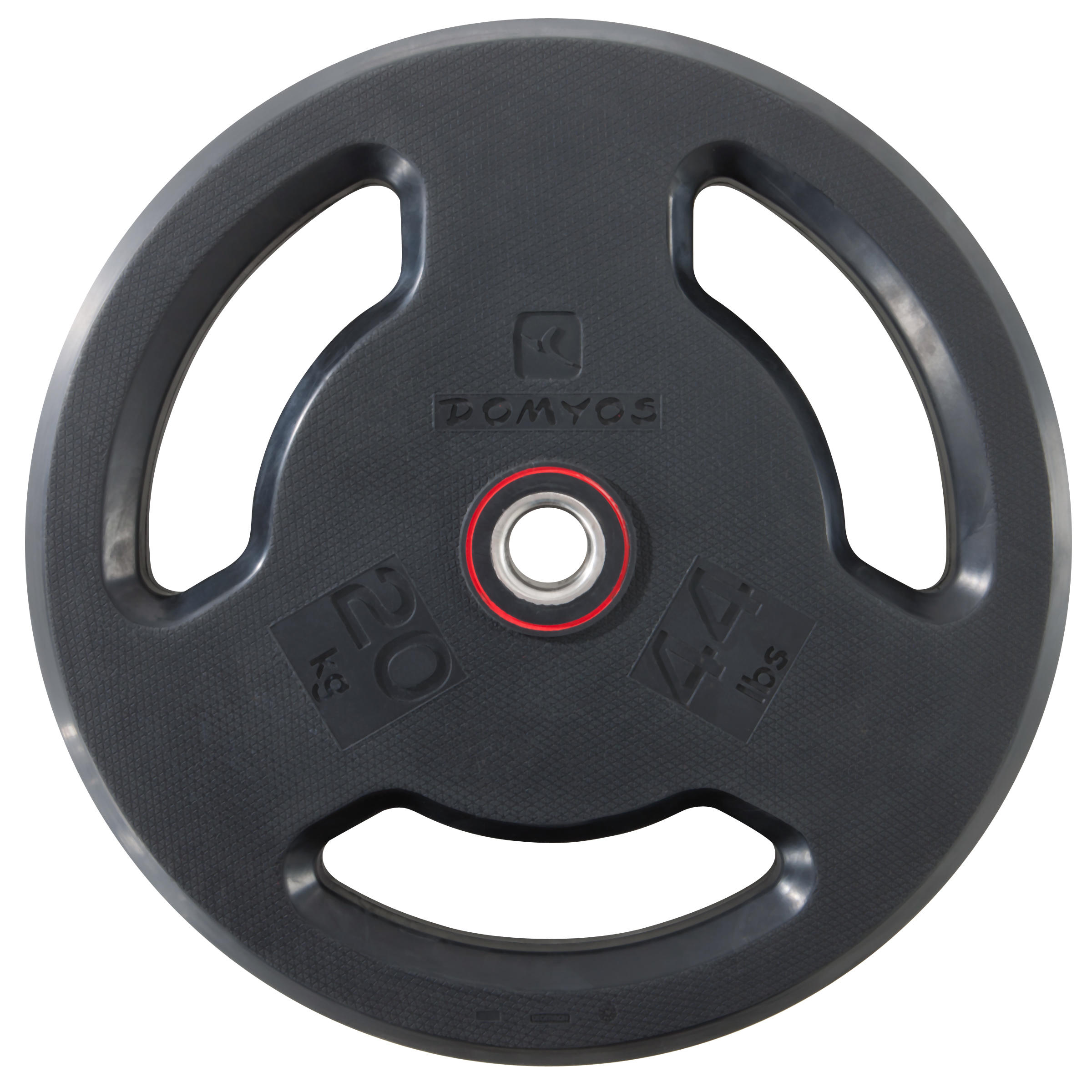 Rubber Weight Disc with Handles 28mm 20kg
