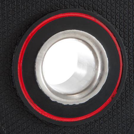20 kg svorio 28 mm skersmens guminis svarmuo su rankenomis