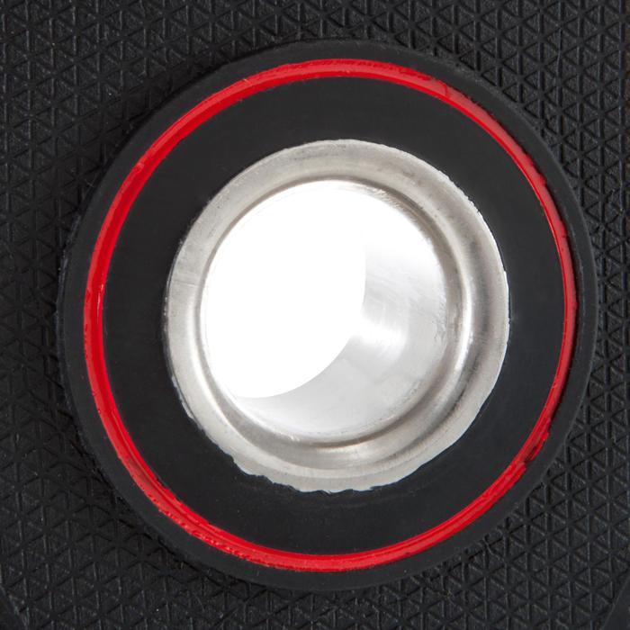 Disco de caucho de musculación con asas Domyos de 28 mm de 20 kg