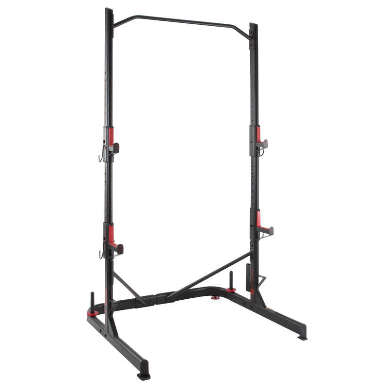 BODYBUILDING GUIDED EQUIPMENT Fitness and Gym - 500 Weight Rack DOMYOS - Fitness and Gym