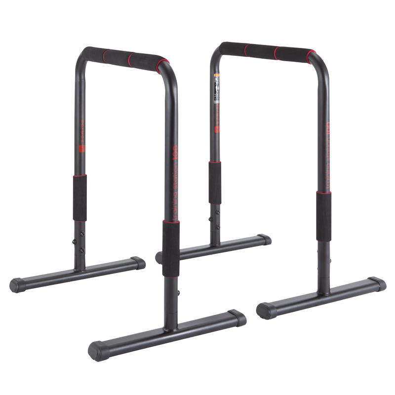 Dip Bar Training Station 100 Black with Red Accent