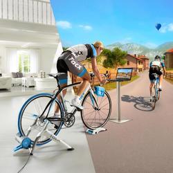 Set interactieve fietsentrainer Vortex