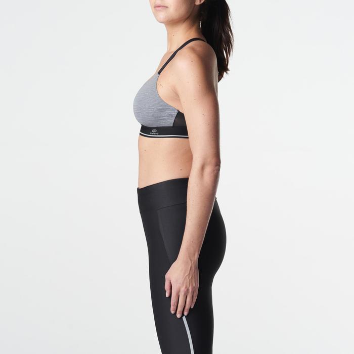 Sport-BH Sportance Komfort schwarz/grau meliert