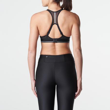 "Moteriška liemenėlė bėgimui ""Sportance Comfort"" ‒ margai juoda"