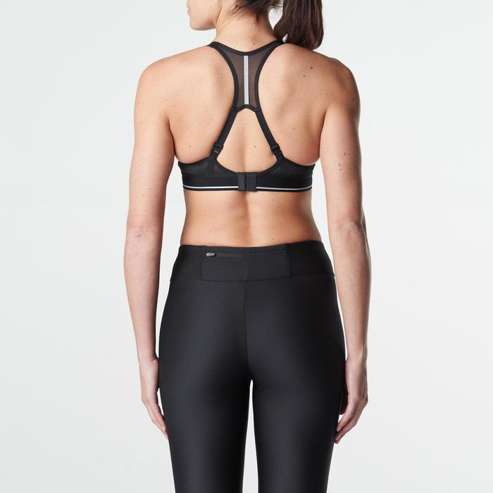Sportbeha Sportance Comfort hardlopen gemêleerd zwart