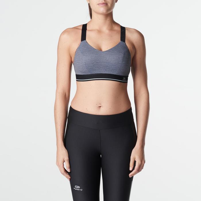 Sport-BH Bustier Komfort grau meliert